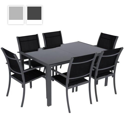7 Teilige Gartengarnitur Alu Sitzgarnitur Farbwahl Sitzgruppe Mit