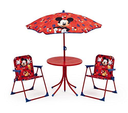 disney micky maus gartensitzgruppe 2x stuehle 1 tisch sonnenschirm kindertisch - Disney Micky Maus Gartensitzgruppe 2x Stühle + 1 Tisch + Sonnenschirm Kindertisch