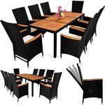 PolyRattan Sitzgruppe 8+1 neigbaren Rückenlehnen Tisch aus Akazienholz Gartenmöbel Gartenset Sitzgarnitur Rattan