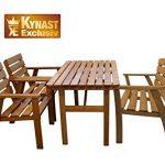 Sitzgruppe Holz 4-tlg KYNAST Gartenmöbel Stuhl Tisch