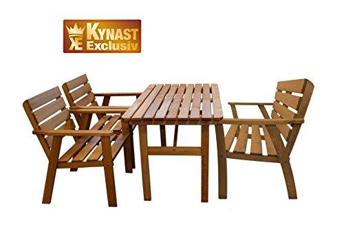 sitzgruppe holz 4 tlg kynast gartenmoebel stuhl tisch - Sitzgruppe Holz 4-tlg KYNAST Gartenmöbel Stuhl Tisch